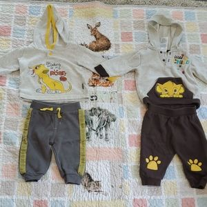 Disney Baby  sweat top and pants sets. Size 3-6 mo